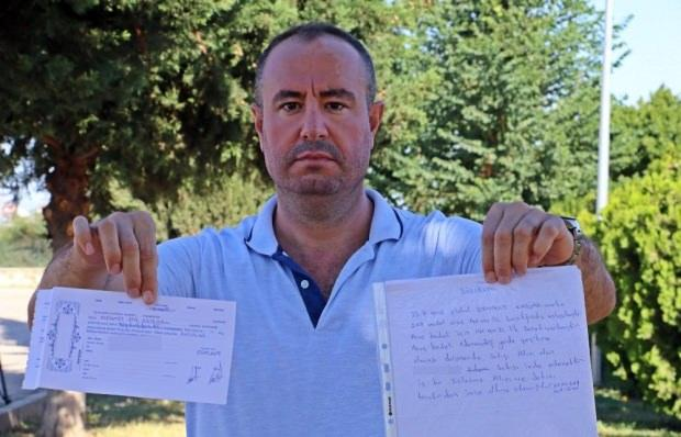 Antalya'da inşaat mühendisi Mehmet Ata Ağırman (38), kanser hastası ablasının tedavisini karşılamak için sattığı 140 bin TL değerindeki otomobilinin parasını alamadığını ileri sürerek dolandırıldığını iddia etti.