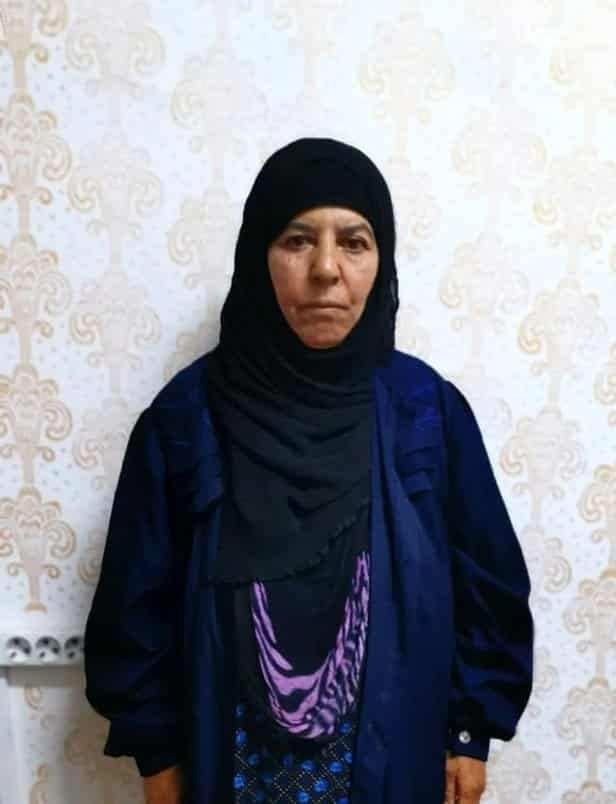 Ebubekir el Bağdadi'nin kız kardeşi Resmiye Avad.