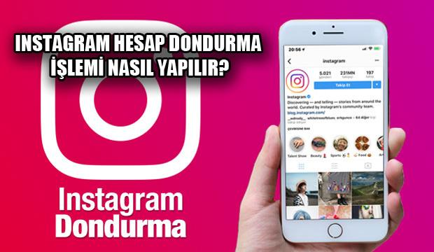 Instagram dondurma nasıl yapılır! Instagram hesap dondurma