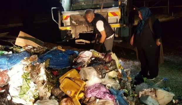 2 ton çöpü bir saat boyunca aradı, sonunda buldu