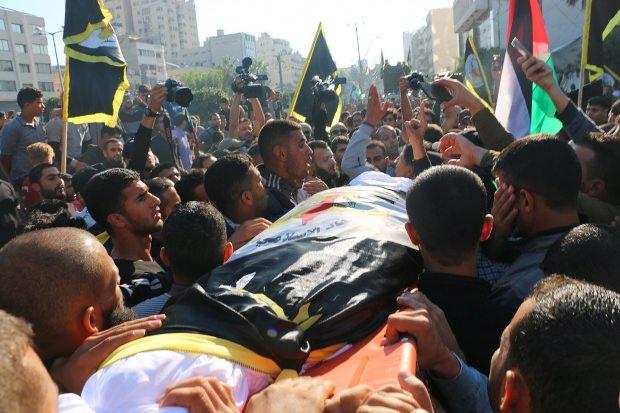 Suikast sonucu öldürülen Ebu'l Ata'nın cenazesi