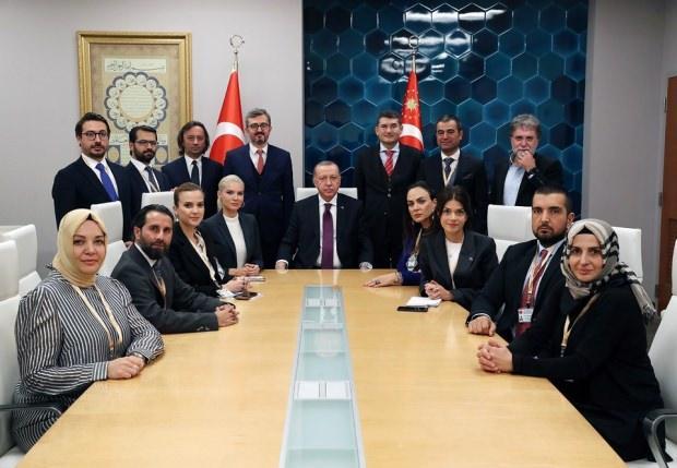 Cumhurbaşkanı Recep Tayyip Erdoğan'ın ABD ziyaretine eşlik eden gazeteciler...