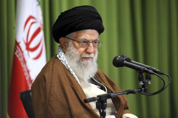 İran dini lideri Ayetullah Ali Hamaney...