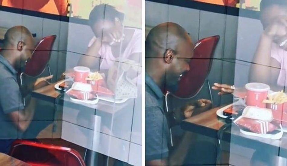 Fast Food restoranında evlilik teklifi yapan Güney Afrikalı adama büyük destek!