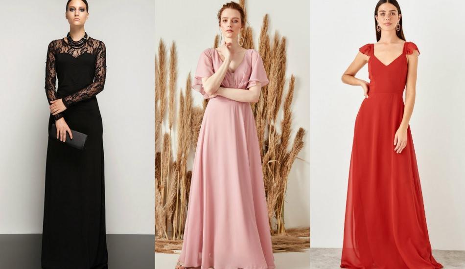 Kış abiye elbise modelleri 2019