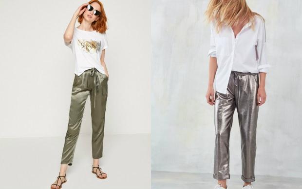 parlak gri pantolon
