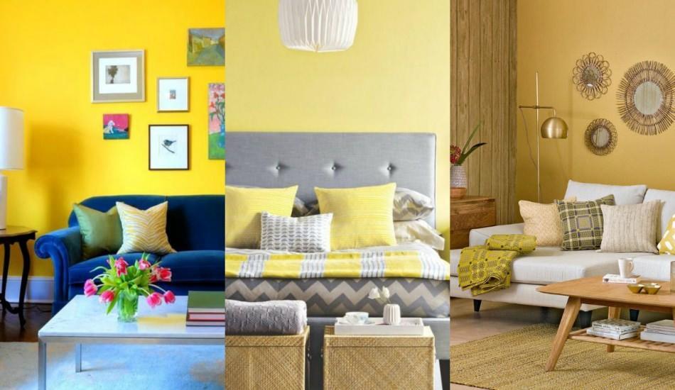 Sarı renk ile yapılabilecek ev dekorasyonu önerileri