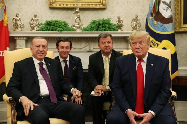 İki liderin 13 Kasım'da Oval Ofis'te gerçekleştirdiği toplantıdan bir kare...