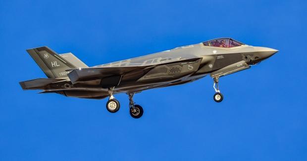 Rude Rams olarak bilinen 34. Avcı Filosuna ait 5079 kuyruk numaralı F-35...