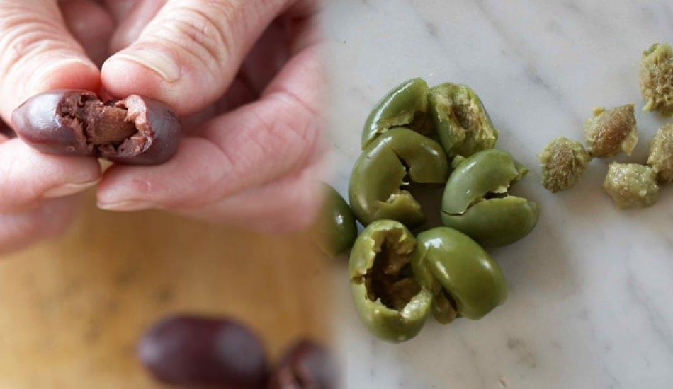 Zeytinin çekirdeği nasıl çıkarılır?