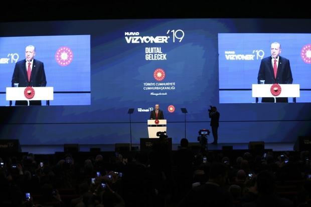 Son dakika: Cumhurbaşkanı Erdoğan, MÜSİAD Vizyoner'19 programındaki konuşmasından görüntü