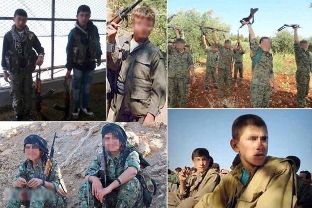 Terör örgütü PKK/YPG'nin çocuk savaşçıları....