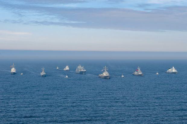 NATO ülkelerinin Baltık Denizi'nde gerçekleştirdiği bir tatbikattan görüntü...