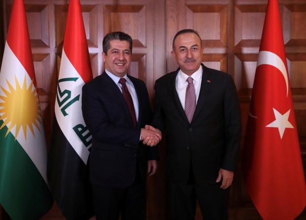 Son dakika haberi: Çavuşoğlu ve Barzani Ankara'da bir araya geldi.