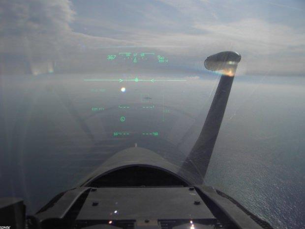 Yunan pilotun Türk fırkateynini hedefe kitlediği anlar.