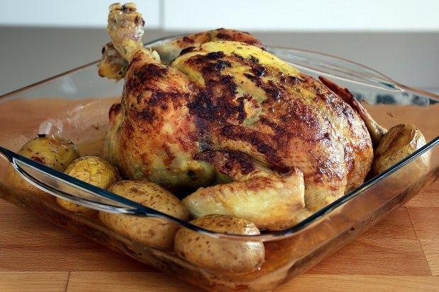 nefis bütün tavuk pişirme