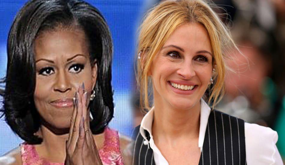 Julia Roberts ile Michelle Obama eğitim gezisinde buluştu!