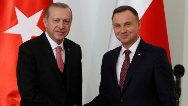 Cumhurbaşkanı Recep Tayyip Erdoğan ve Polonya Devlet Başkanı Andrzej Duda...