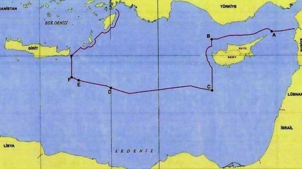 Libya ile Türkiye'nin Akdeniz'de kıta sahanlığı açısından büyük önem arz eden anlaşma sonrası haritadaki son durum
