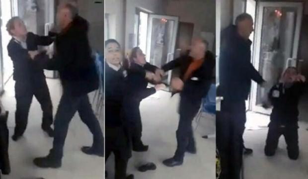 Skandal görüntü! Kadın görevlilere saldırdı, yerlerde sürükledi