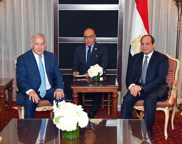 İsrail Başbakanı Netanyahu ve Mısır Cumhurbaşkanı Sisi