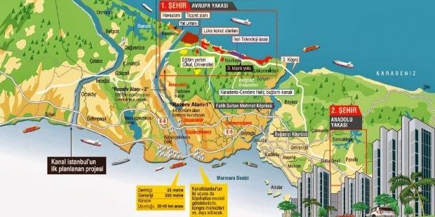 Kanal İstanbul'un inşa edildiği bölge yeni bir cazibe merkezi haline dönüşecek