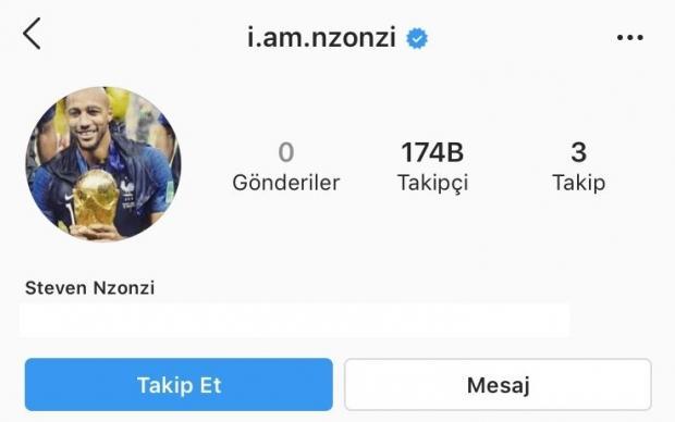 Galatasaray'da kadro dışı bırakılan Steve Nzonzi, Instagram hesabından Galatasaray paylaşımlarını silip Galatasaray'ı da takip etmeyi bıraktı.