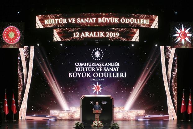 Cumhurbaşkanı Erdoğan, Kültür Sanat Büyük Ödülleri Töreninde konuştu.