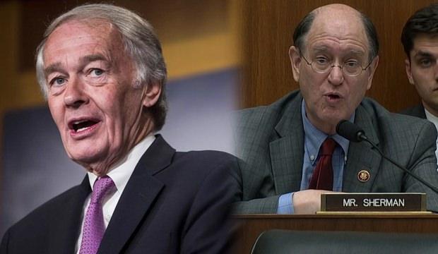 ABD'de Demokrat Kongre üyeleri Edward J. Markey (solda) ve Temsilciler Meclisi üyesi Brad Sherman (sağda)....