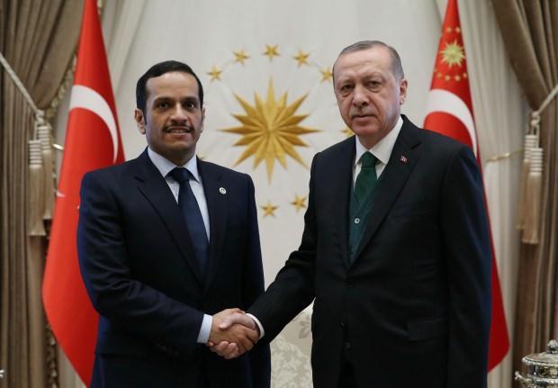 Katar Dışişleri Bakanı Muhammed bin Abdurrahman el Sani, daha önce Cumhurbaşkanı Recep Tayyip Erdoğan ile Beştepe'de bir görüşme gerçekleştirmişti.