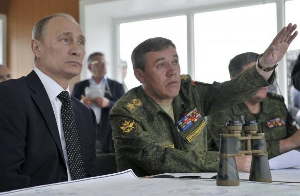 Rusya Devlet Başkanı Vladimir Putin ve Rusya Genelkurmay Başkanı Valery Gerasimov....