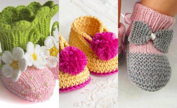 Kız bebekler için örgü patik modelleri ve yapılışı