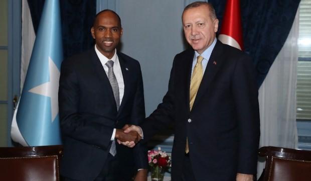 Cumhurbaşkanı Erdoğan, Somali Başkanı Hasan Ali Hayri ile görüştü