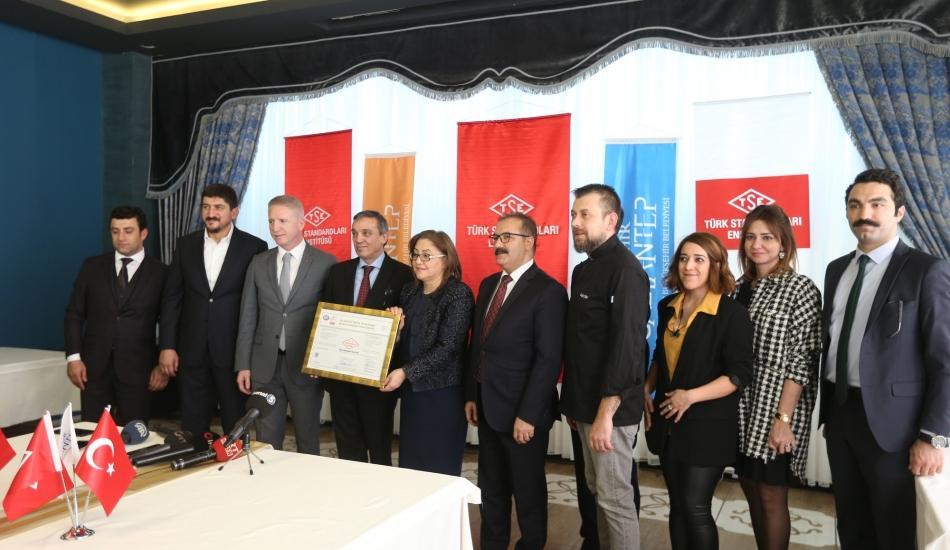 Gaziantep Mutfak Sanatları Merkezi, TSE tarafından tescillendi