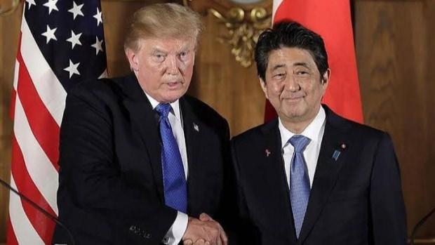 ABD Başkanı Donald Trump ile Japonya Başbakanı Abe Şinzo