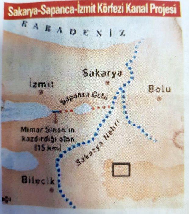 Sakarya-Sapanca-İzmir Kanal projesi