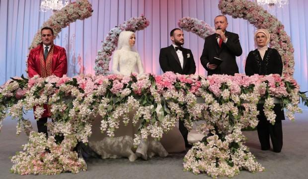 Erdoğan şahitlik yaptı, Bakan'ın oğlu dünya evine girdi!