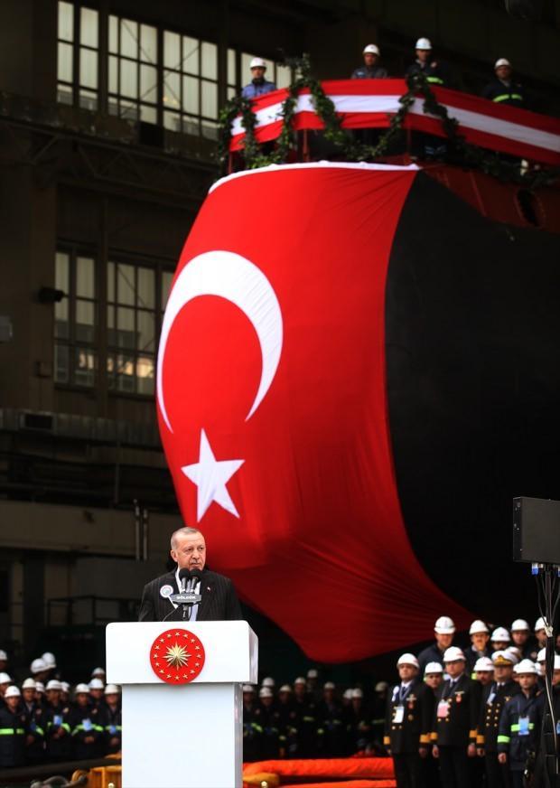Başkan Erdoğan'ın konuşmasından bir kare