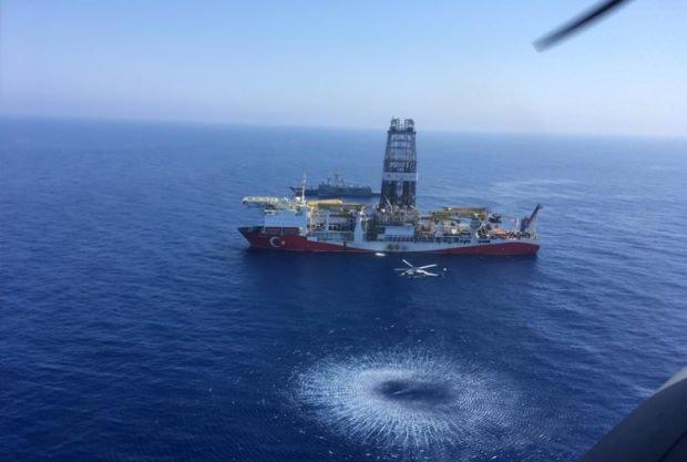 Türkiye'nin Akdeniz'de görev yapan Fatih Sondaj Gemisi