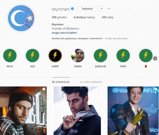 reynmen ınstagram profili