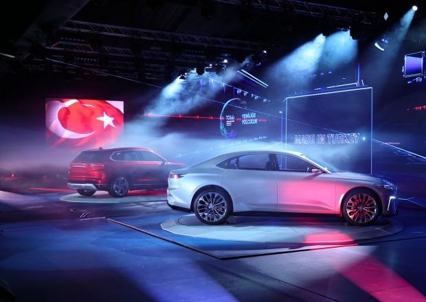 Türkiye'nin tanıtımını yaptığı C-SUV ve C-SEDAN model yerli otomobiller