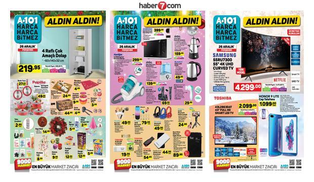 A101 27 Aralık aktüel ürünler kataloğu! A101 yıl sonu indirimleri...