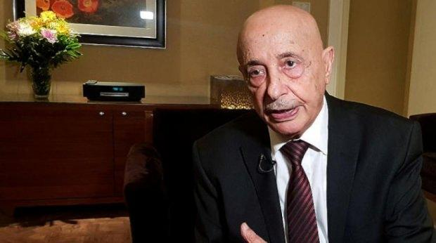Tobruk'taki Temsilciler Meclisi (TM) Başkanı Akile Salih....