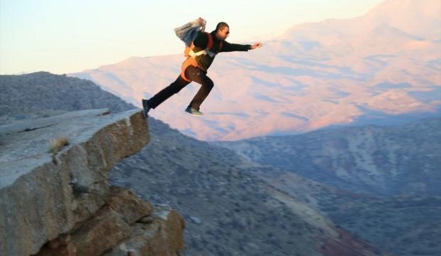 Siirt Botan Vadisi Milli Parkı'nda 94 metreden serbest düşüş atlayışı
