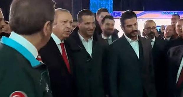 Cumhurbaşkanı recep tayyip erdoğan ve burak özçivit