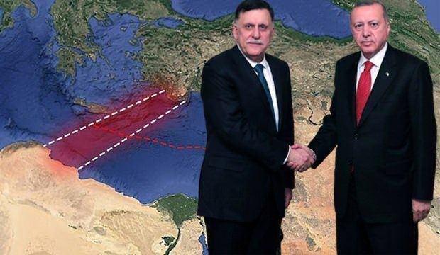 UMH Başbakanı Al Sarraj ve Cumhurbaşkanı Erdoğan...