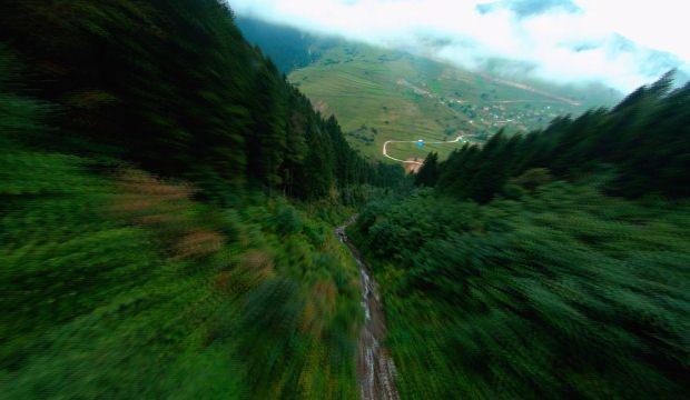 Türkiye'nin en güzel manzaraları yarış dronu ile görüntülendi