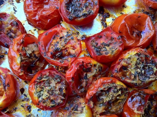 fırında kızartılmış domates