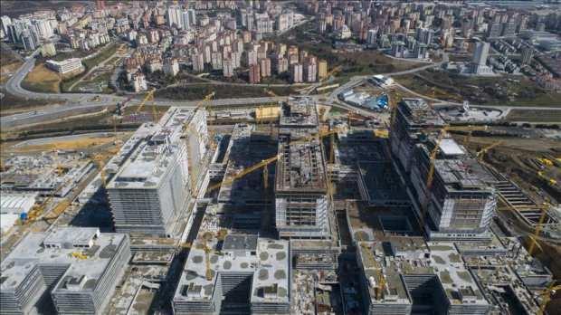 İstanbul Başakşehir'de inşa edilen şehir hastanesi
