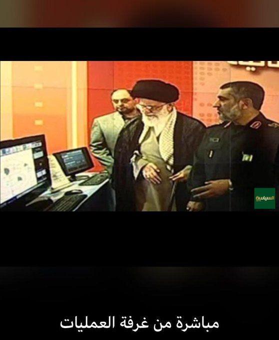 İran dini lideri Hamaney Irak'taki ABD üslerine yapılan füze saldırılarını izlerken